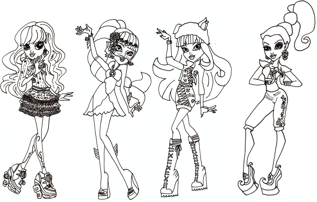 Printable Monster High Coloring Pages
