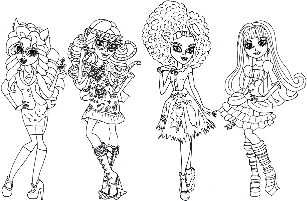 Monster High Coloring Pages | 360ColoringPages