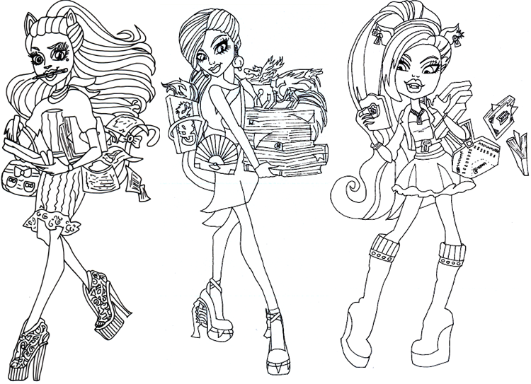 Monster High Coloring Pictures