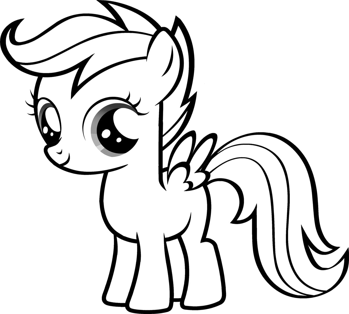 Ausmalbilder My Little Pony Equestria : My Little Pony Coloring Pages 360coloringpages