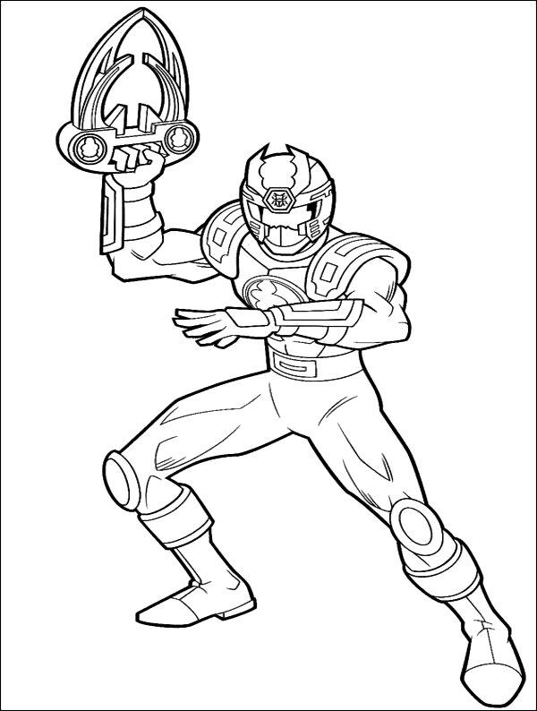 Power Rangers Coloring Pages Printable Free