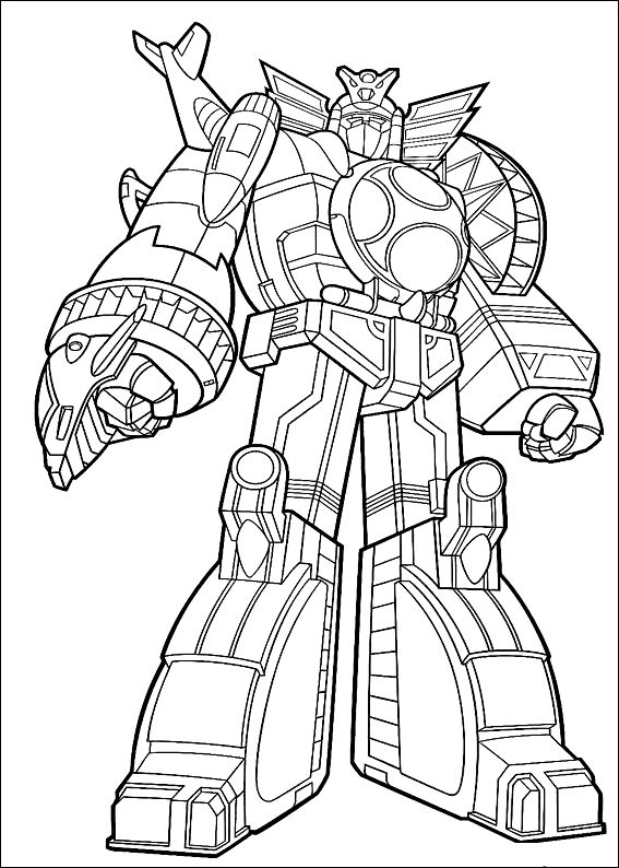 Power Rangers Mighty Morphin Coloring Pages