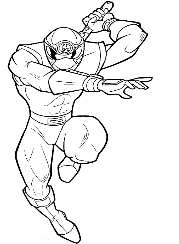 Printable Power Rangers Coloring Pages for Kids
