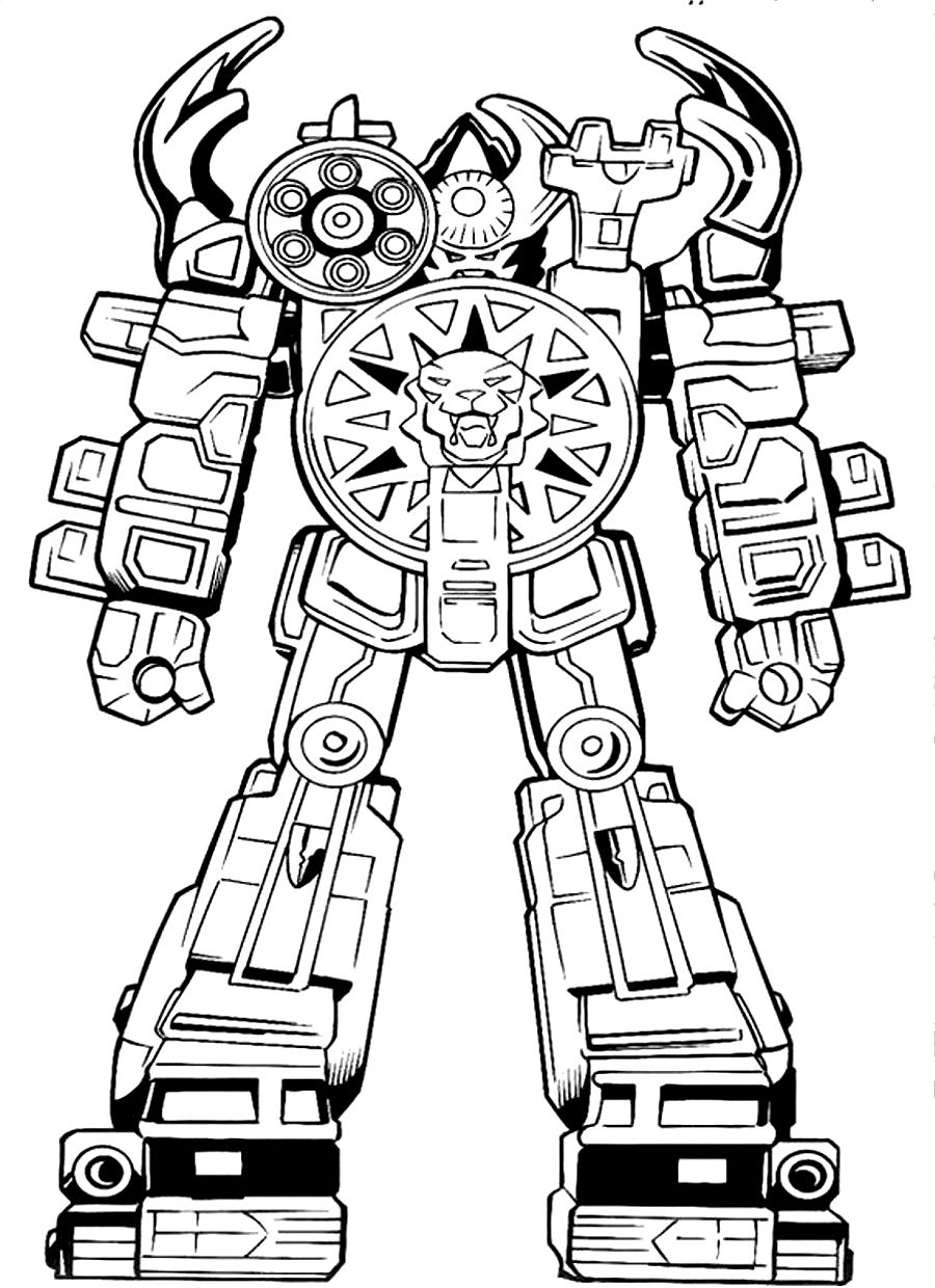 Power Rangers Coloring Pages Megaforce