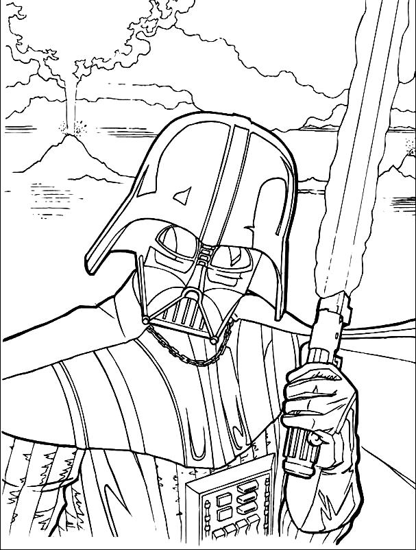 Star Wars Spaceship Coloring Page Pages Lightsaber