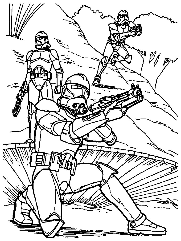 Star Wars Printable Coloring Pages Free