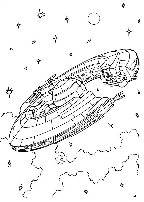 Star Wars Spaceships Coloring Pages