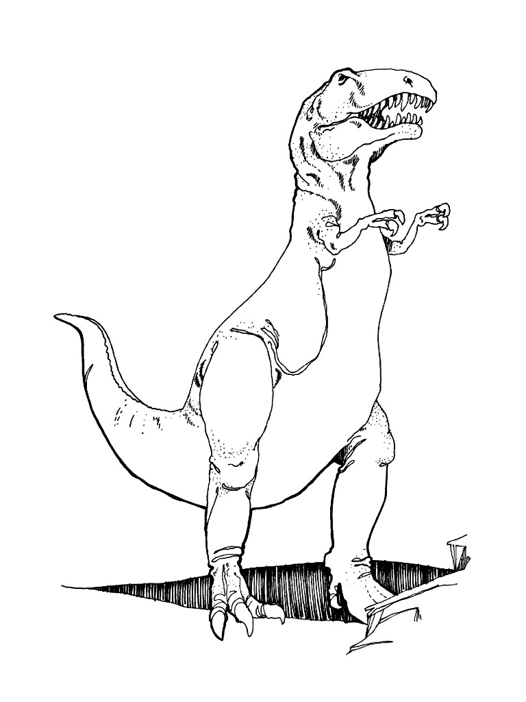 T-rex Coloring Pages Free