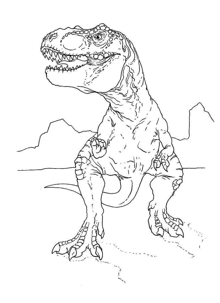 T rex coloring pages 360coloringpages for Free t rex dinosaur coloring pages