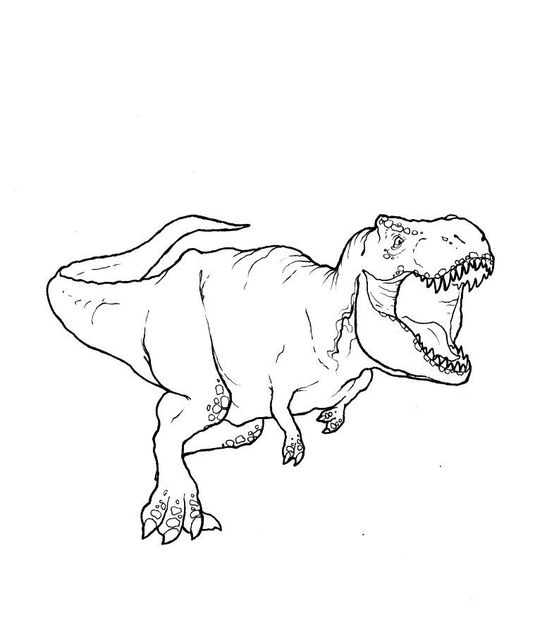 Dinosaur T-rex Coloring Pages