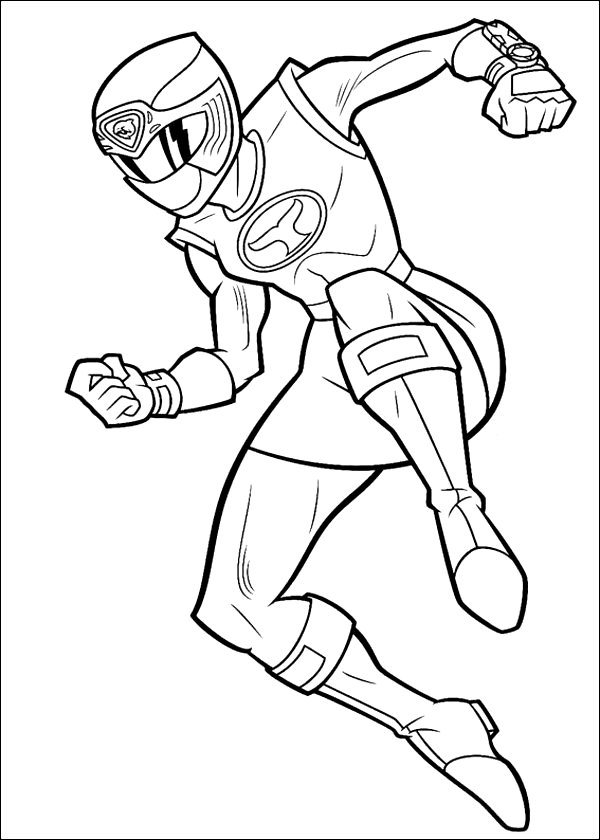 Yellow Power Ranger Coloring Page