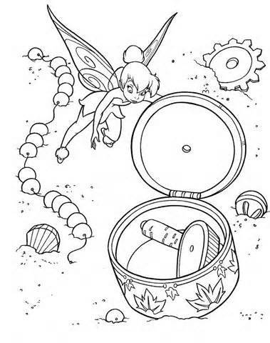 Tinkerbell Coloring Sheets Free Printable