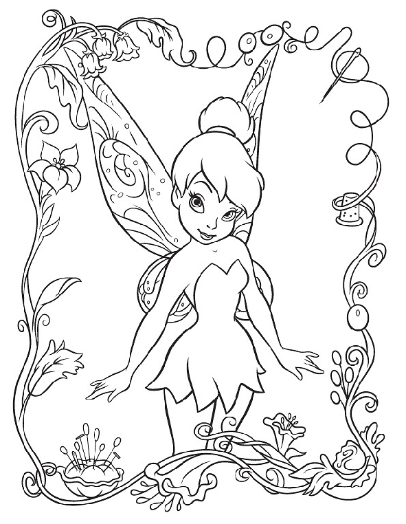 Tinkerbell Coloring Sheets Printable