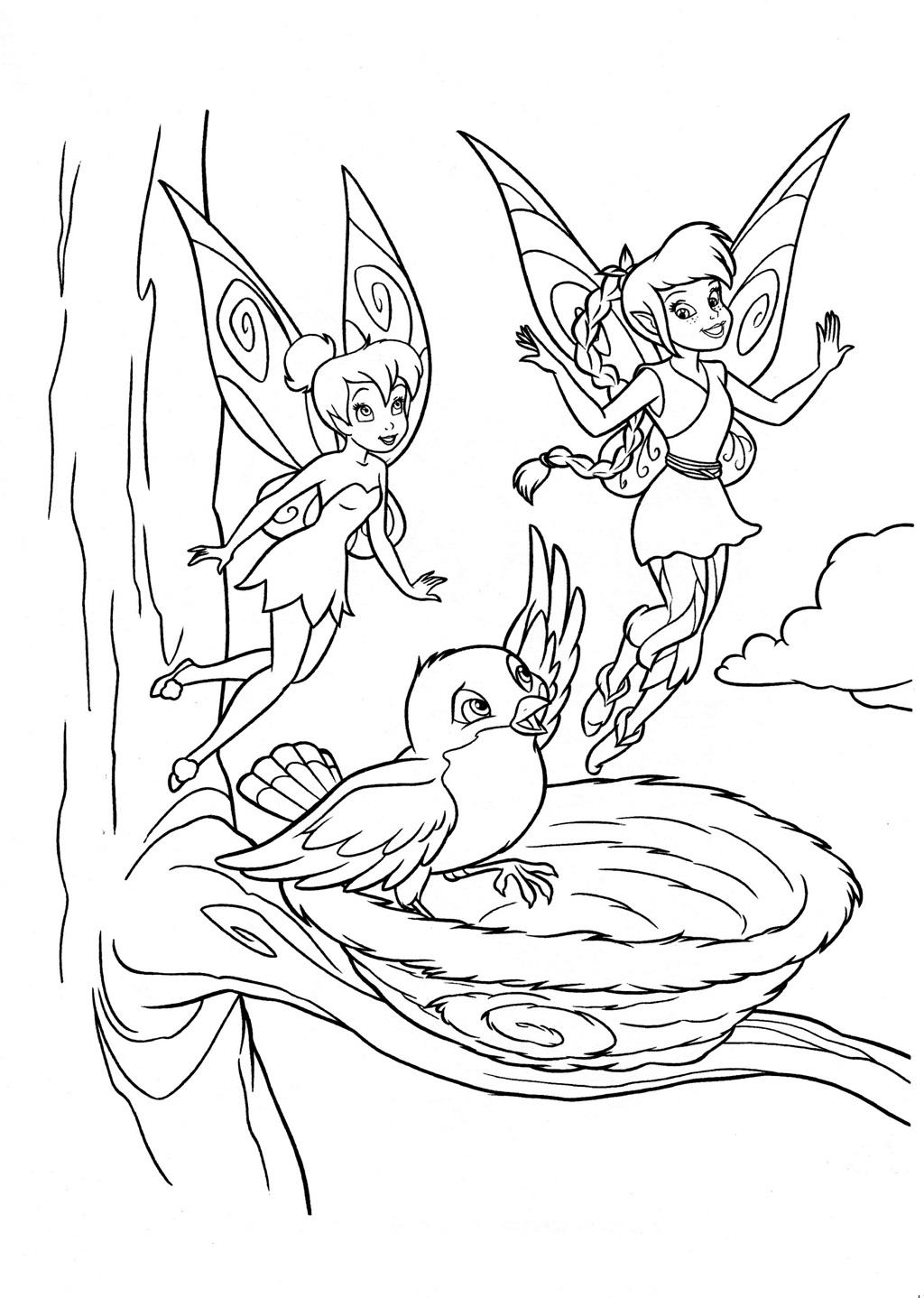 Free Tinker Bell Coloring Pages