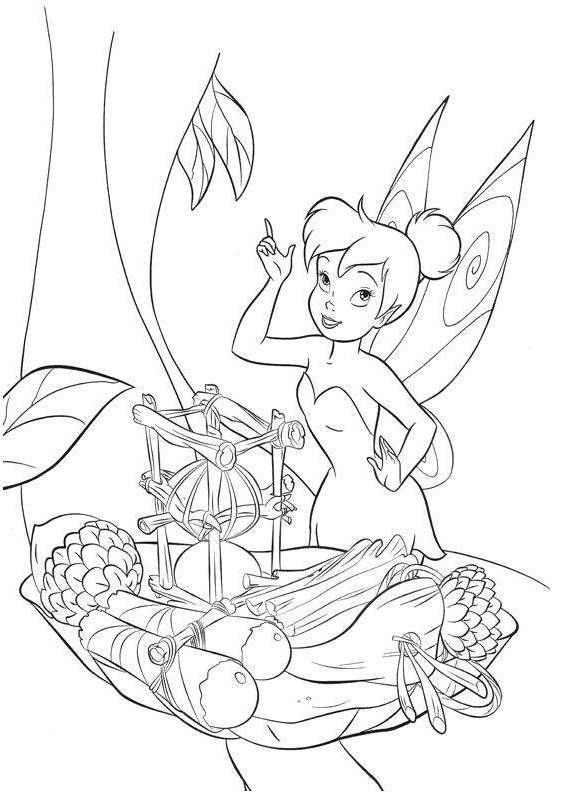 Tinkerbell Coloring Image