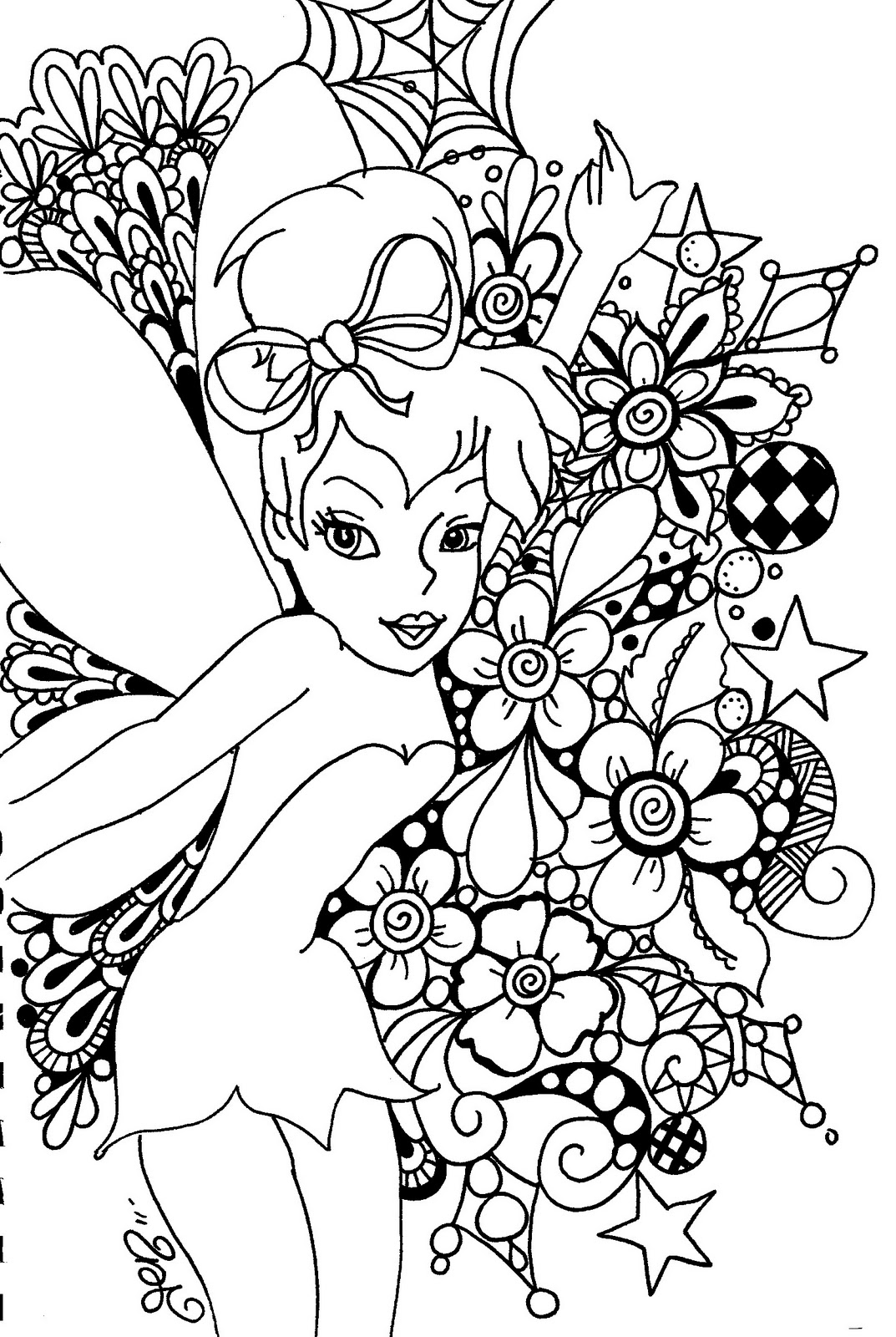 Free Tinkerbell Coloring Pages to Print