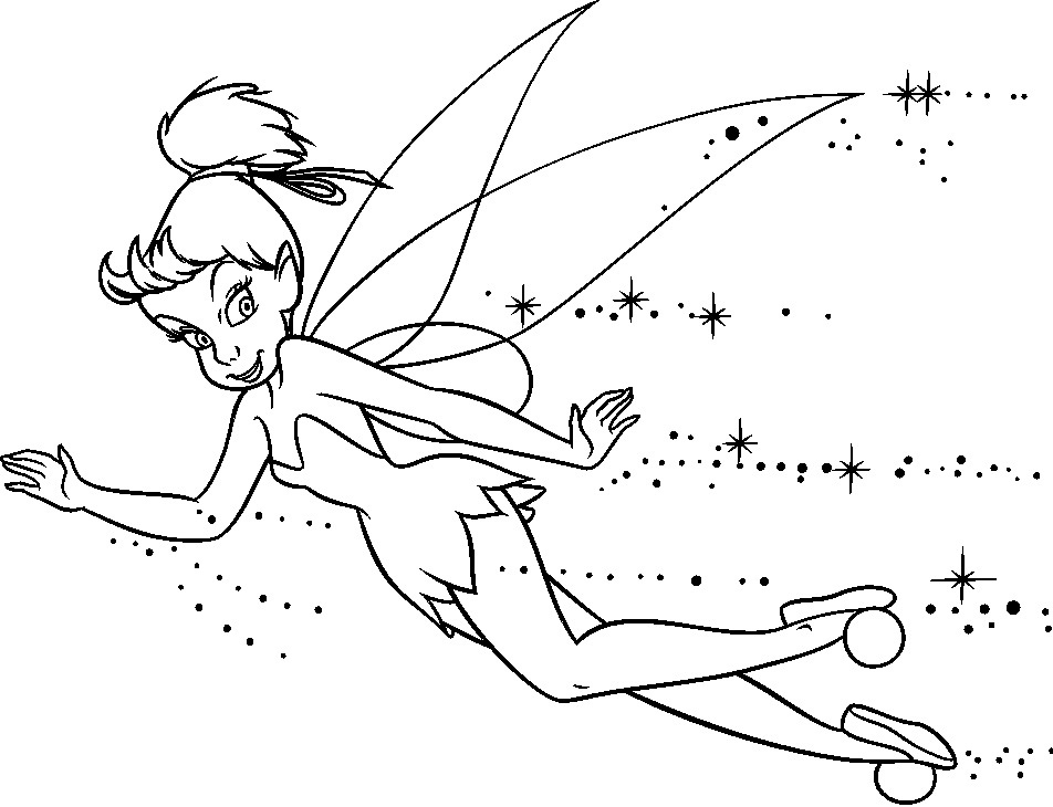 Free Tinkerbell Coloring Pictures