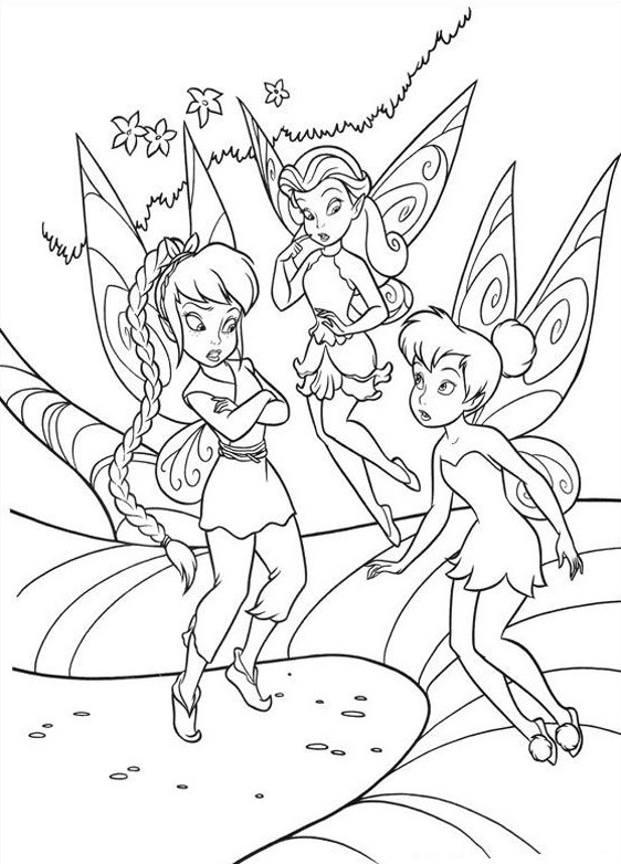 Tinkerbell Pictures to Color