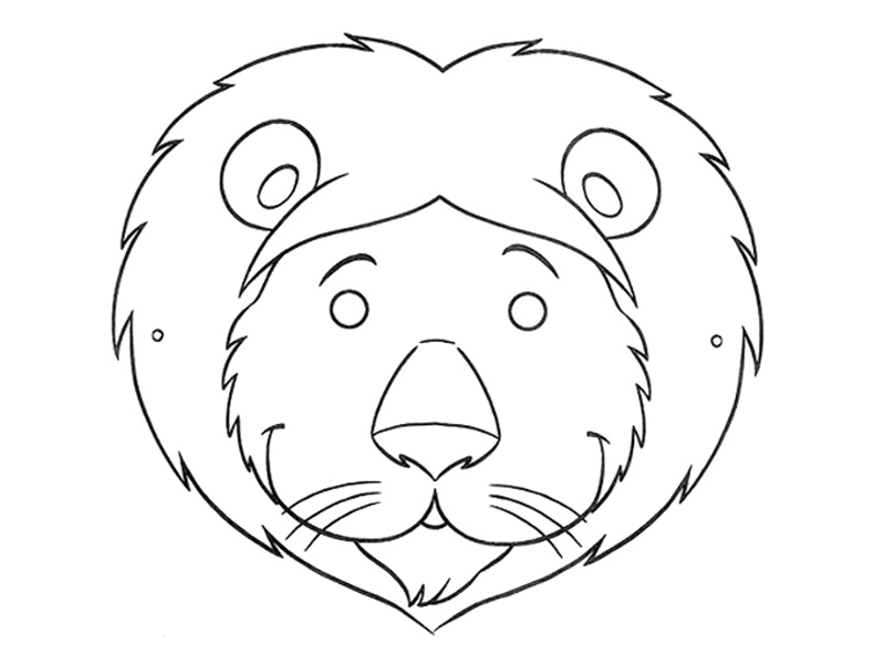Lion Mask Coloring Pages