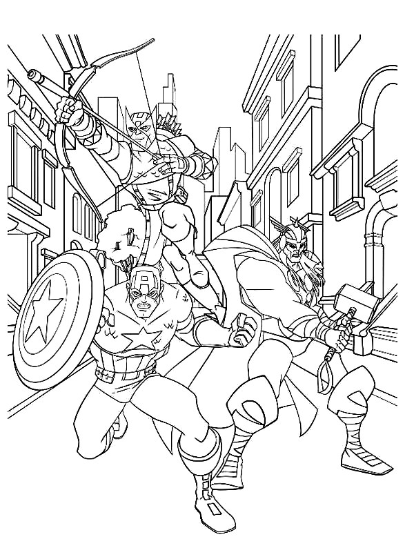 Captain America Coloring Pages Avengers
