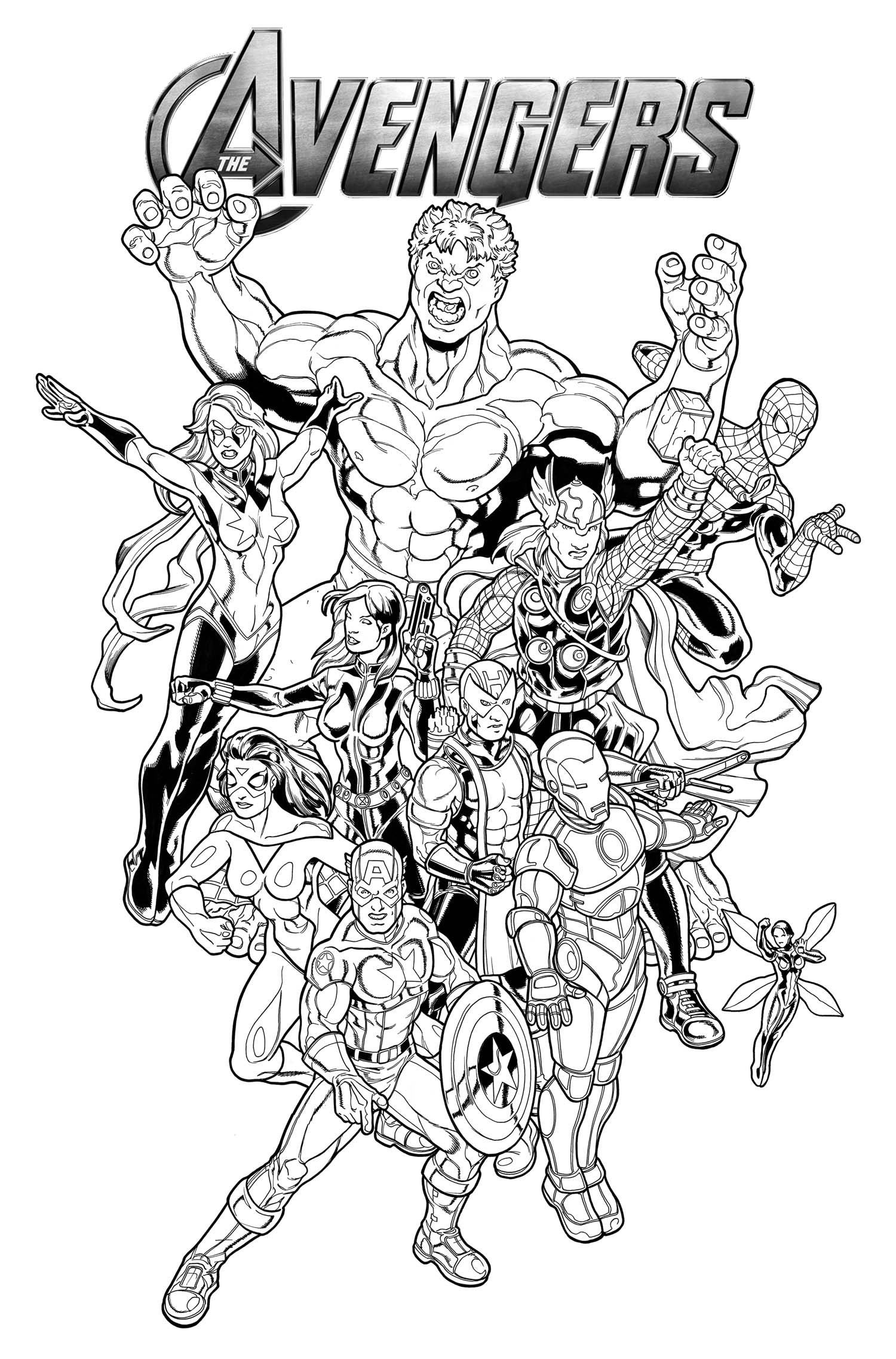 Avengers Coloring Page For Kids Free Printable Pages