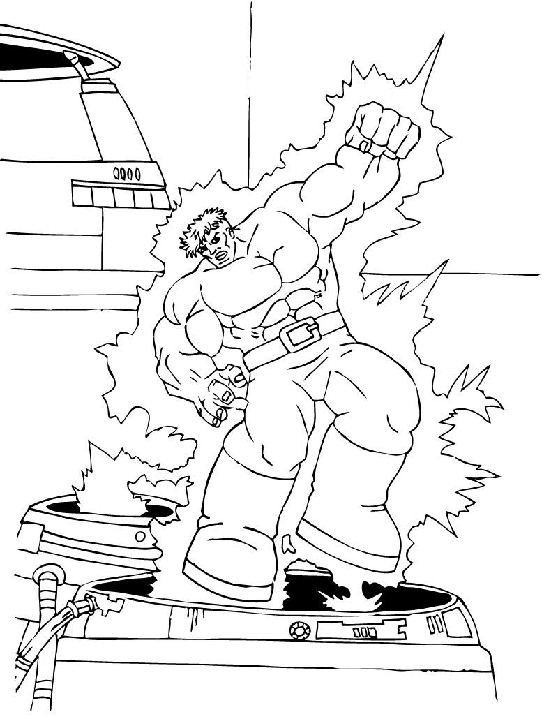 Avengers Hulk Coloring Pages