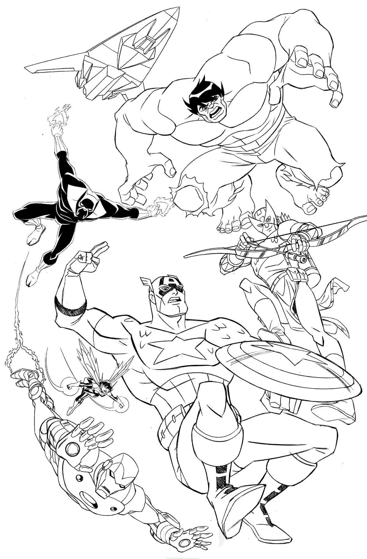 avengers coloring pages 360coloringpages