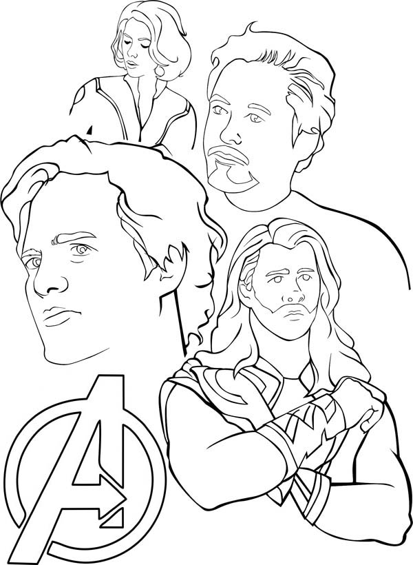 Superhero Thanos Coloring Pages: Avengers Coloring Pages