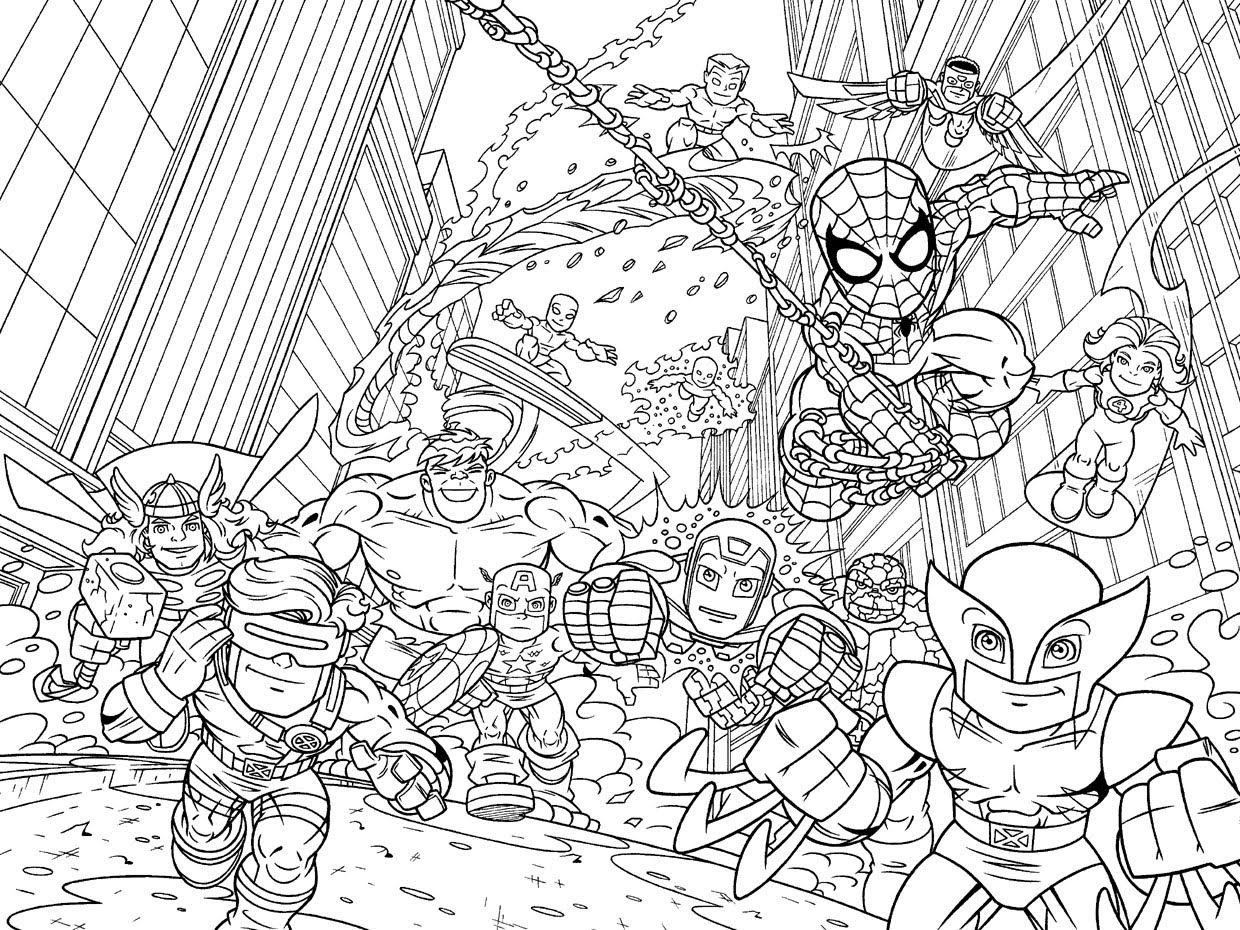 Avengers Coloring Page to Print