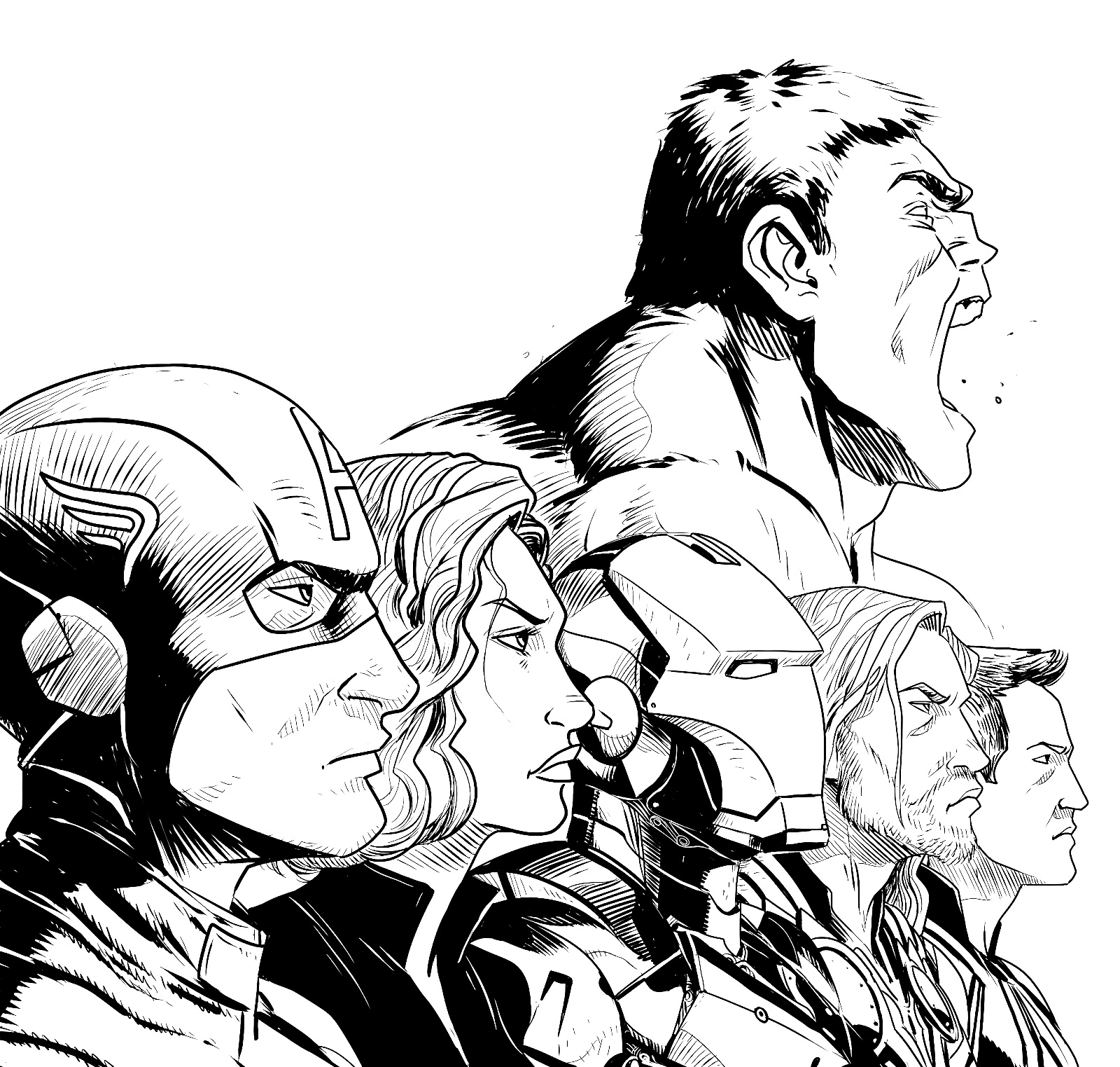 Avengers Coloring Picture