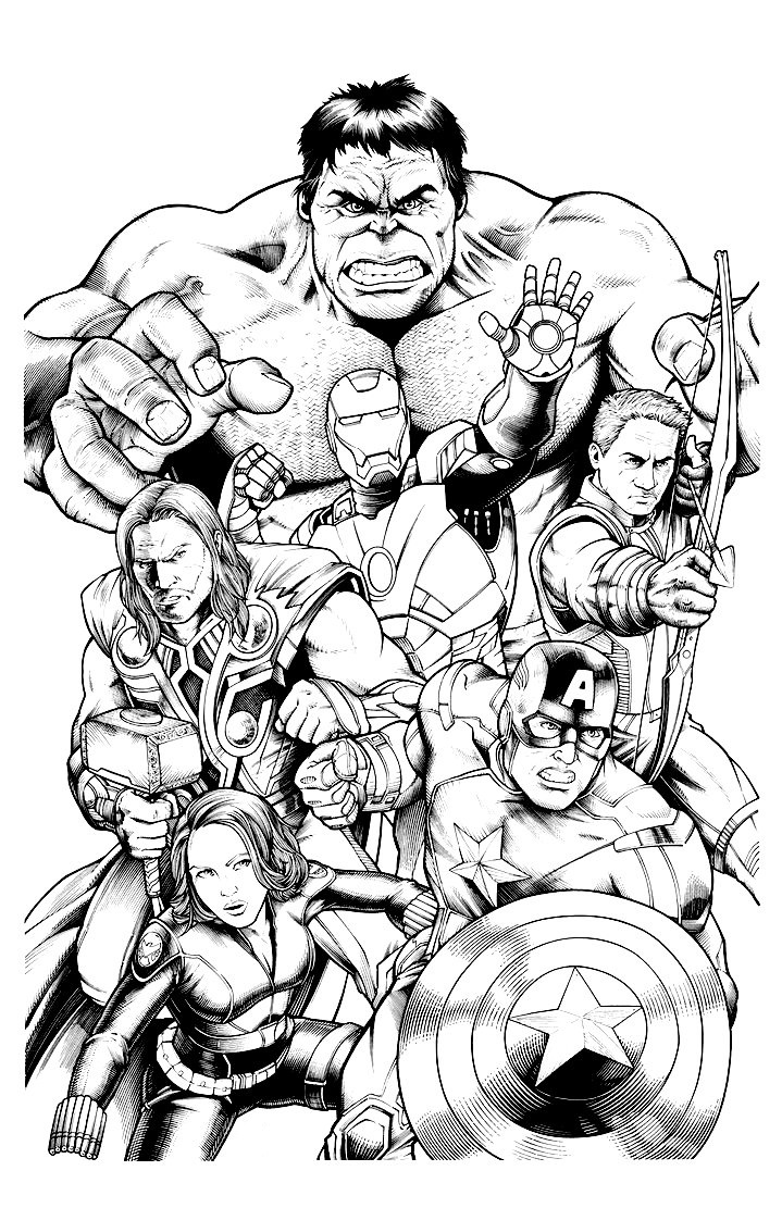 Free printable classic avengers coloring pages ~ Avengers Coloring Pages | 360ColoringPages