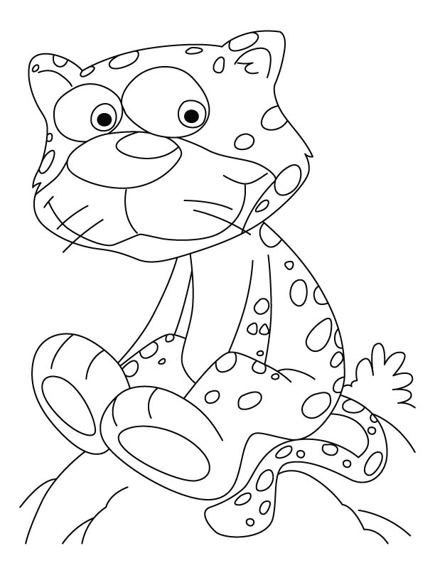 Cheetah Baby Coloring Pages