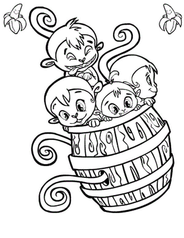 Monkey Baby Coloring Pages