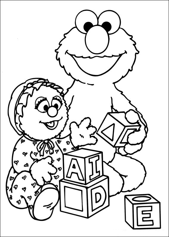 Baby Sesame Street Coloring Page