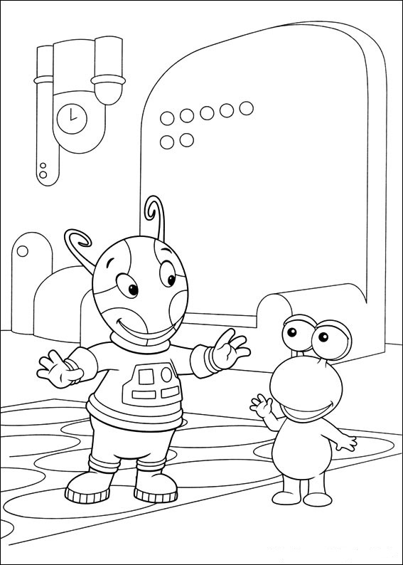 Free Backyardigans Coloring Pages