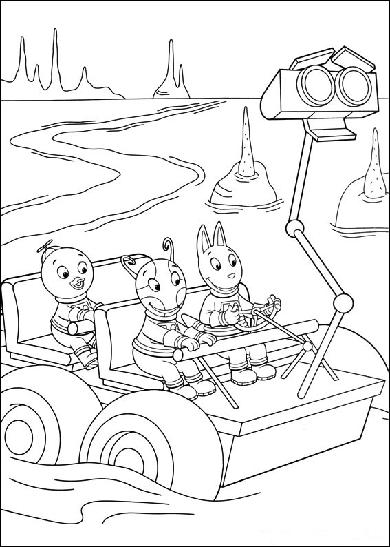backyardigans coloring pages austin | Backyardigans Coloring Pages | 360ColoringPages