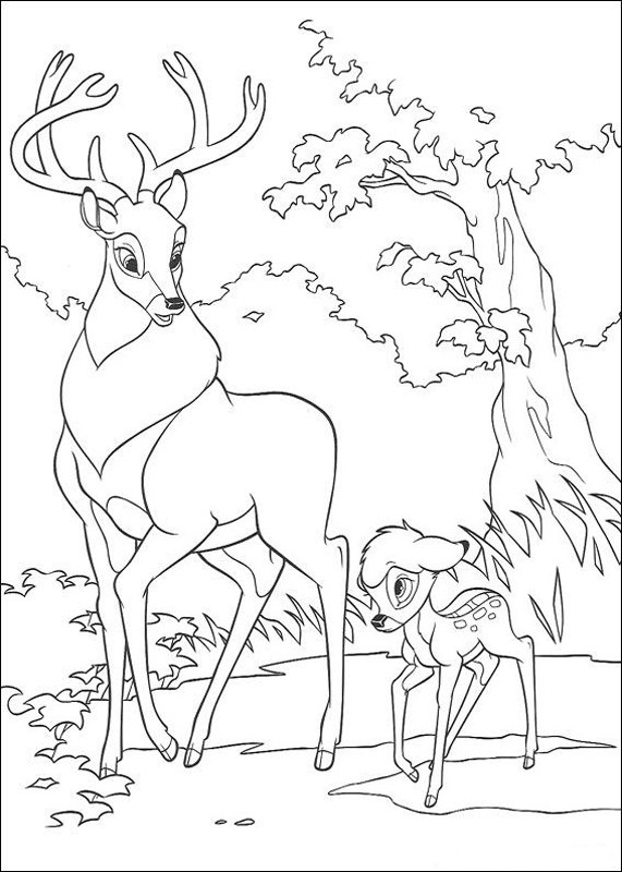 Free Bambi Coloring Pictures