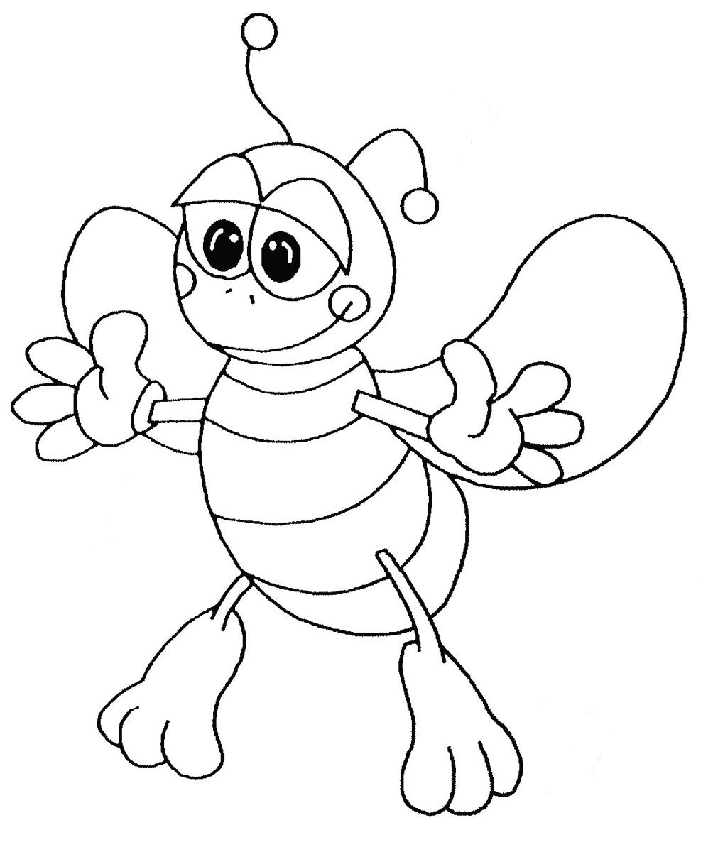 Bee Coloring Page Printable
