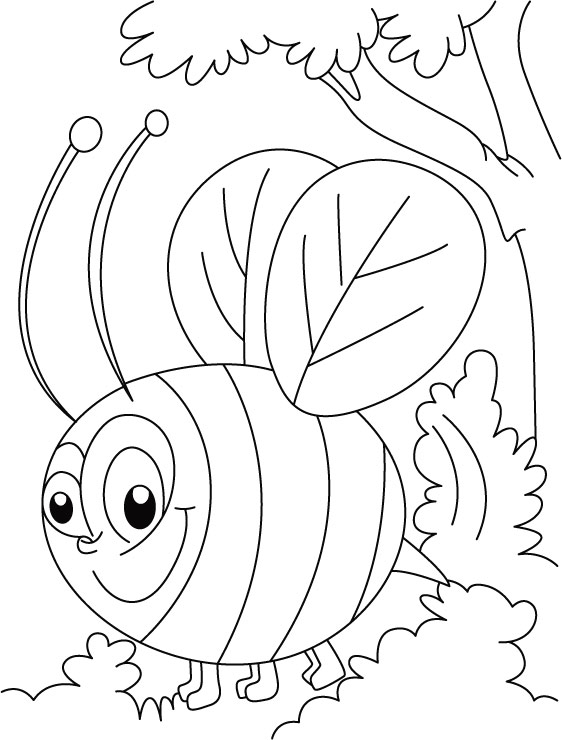 Bee coloring pages 360coloringpages for Bees coloring pages