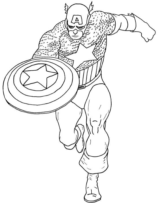 Free Captain America Coloring Pages Printable