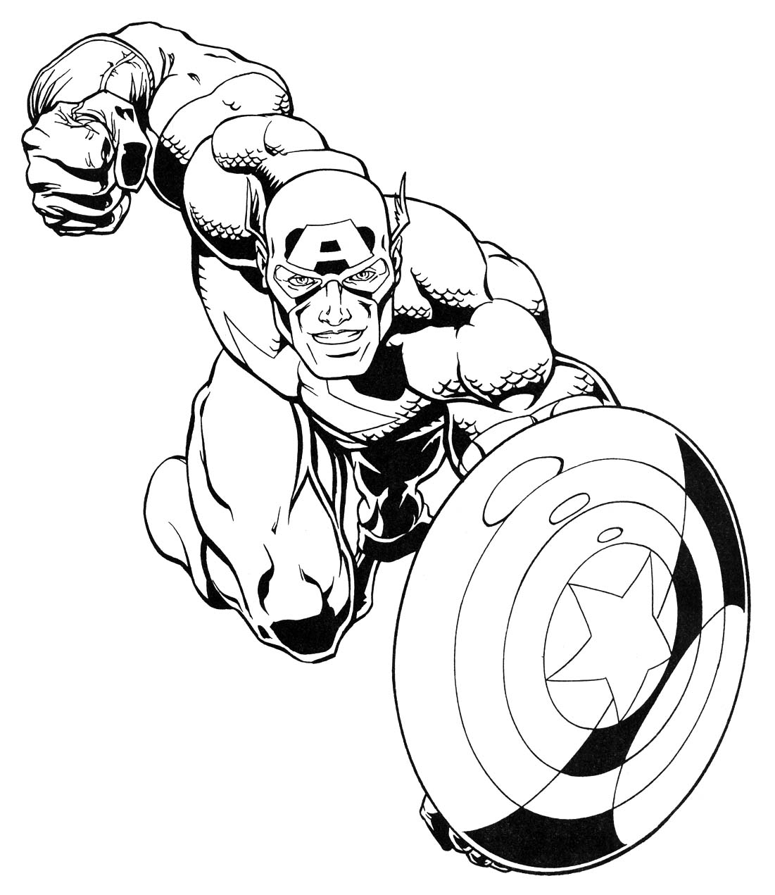 Captain America Coloring Sheet