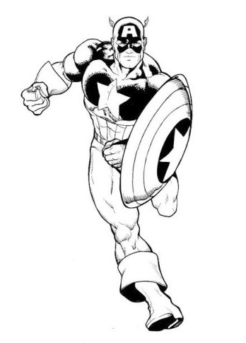 Captain america coloring pages 360coloringpages for Captain america shield coloring page