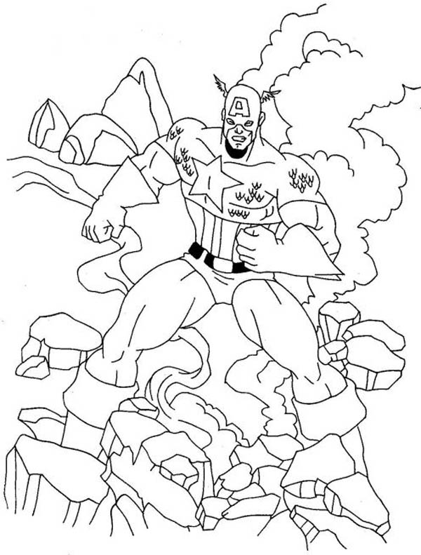 Captain America The First Avenger Coloring Page