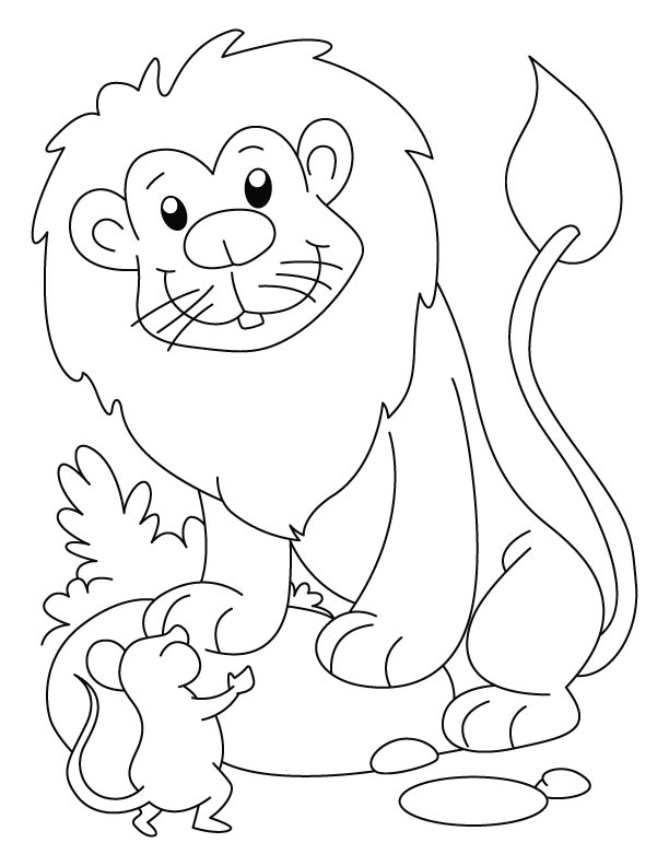 Lion Cartoon Coloring Pages