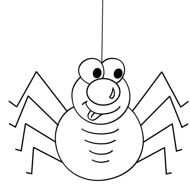 Spider Coloring Sheet To Print Spider Cartoon Coloring Pages