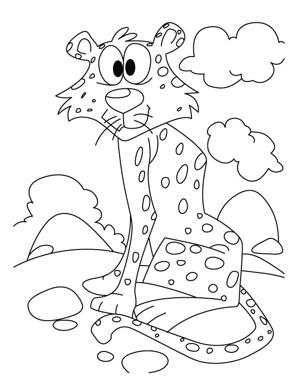 Cheetah Coloring Page For Kids Free Printable Pages