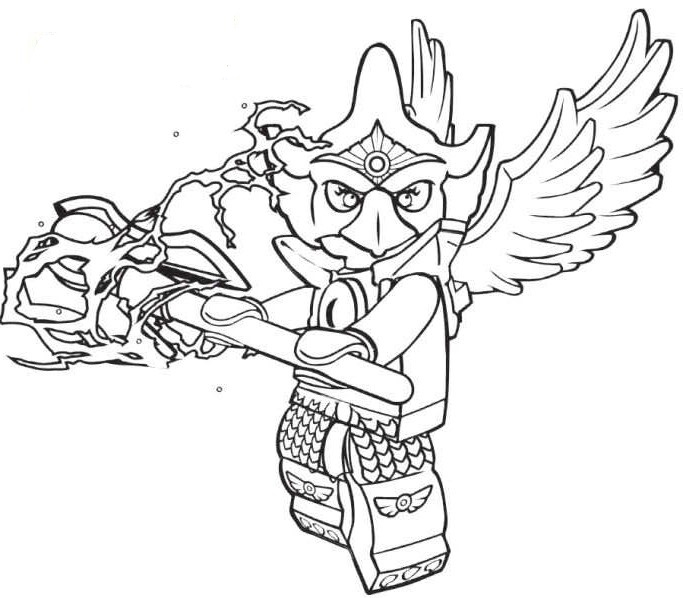 Lego Chima Eagle Legend Beast coloring page | Free Printable ... | 598x683