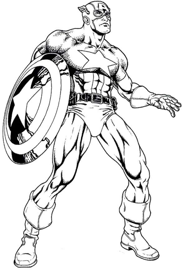 Coloring Pages of Captain America