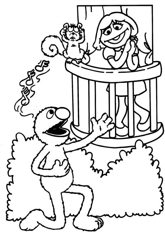 Coloring Pages of Sesame Street
