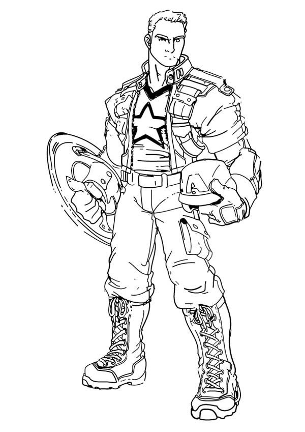 Coloring Pages Captain America